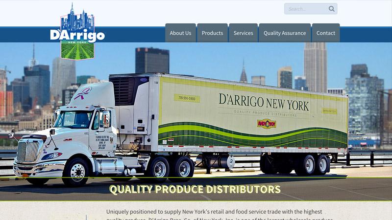 D'Arrigo New York's new website 'celebrates fresh'