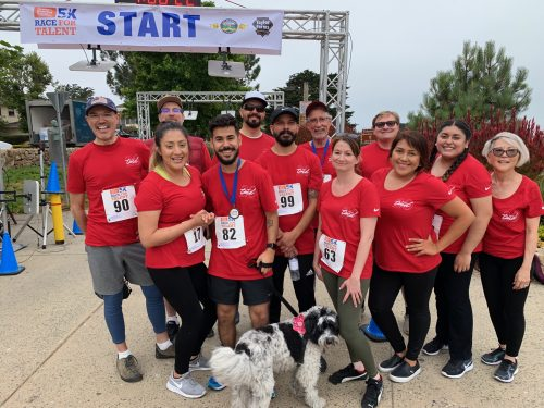 TMD participateing in the Center for Growing Talent's 5k Race