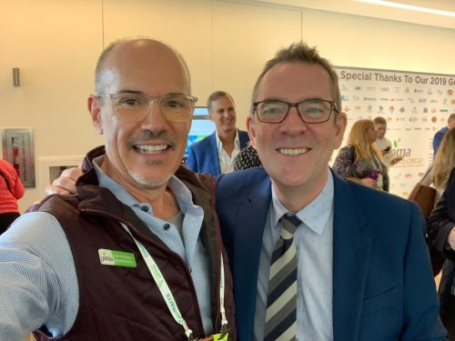 TMD's Founder & CEO, Nick Pasculli with host of Food Network's Chopped, Ted Allen